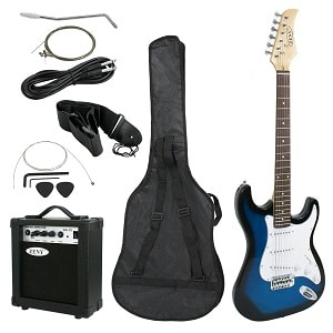 ZENY GUITARS 39 FULL SIZE ELECTRIC GUITAR WITH AMP CASE AND ACCESSORIES PACK